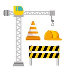 under construction icon set vector image vector image