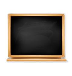 black blackboard vector image vector image