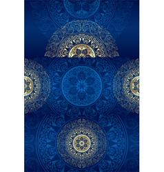 Set of blue vintage floral backgrounds vector image