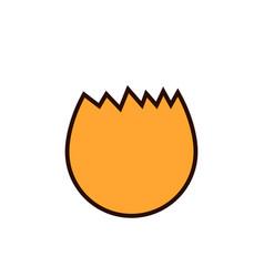 broken egg icon flat of broken egg vector image