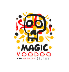 Original voodoo african and american magic logo or vector