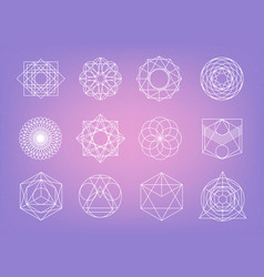sacred geometry symbols collection hipster vector image
