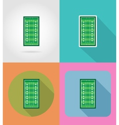 sport flat icons 50 vector image