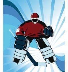 super goalkeeper vector image vector image