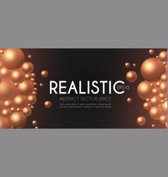 3d golden spheres realistic structure oil design vector image