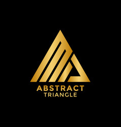 abstract golden triangle logo icon design template vector image