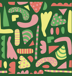 abstract shapes seamless pattern simple vector image