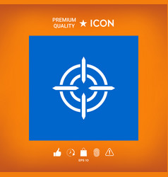 Aim icon symbol vector