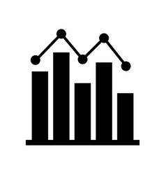 analytic icon vector image