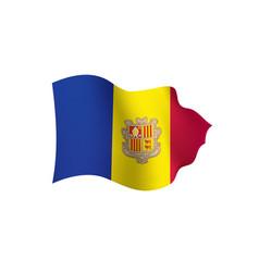 Andora flag vector