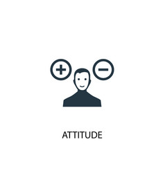 Attitude icon simple element vector