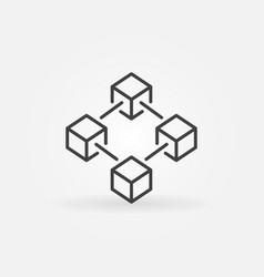 Blockchain icon or design element vector