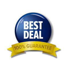 Blue sign best deal 100 guarantee vector