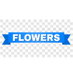 Blue stripe with flowers text vector