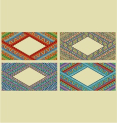 Bright ethnic horizontal frame set vector