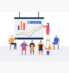 Business conference - modern colorful isometric vector
