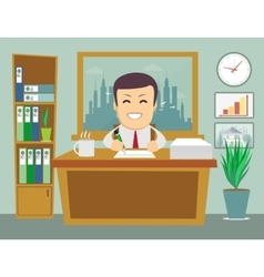 business person working in office hour vector image