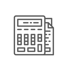 calculator with documents bookkeeping accounting vector image