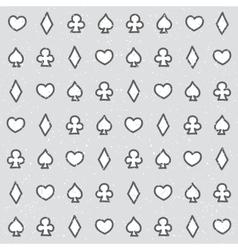 Casino pattern grey vector image