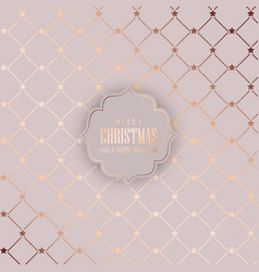 christmas background in rose gold vector image