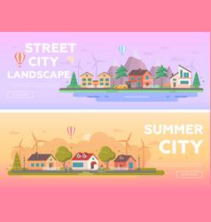 City landscape - set of modern flat vector