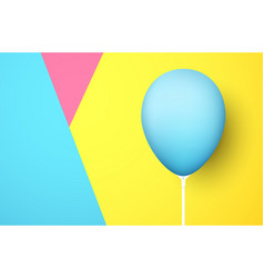 colorful background with blue realistic 3d balloon vector image