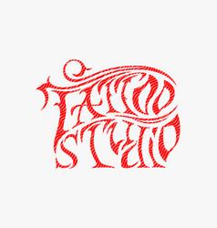 Cool retro style emblem tattoo studio sign vector