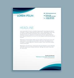 Corporate identity letterhead vector