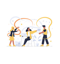 creative team working together vector image