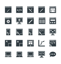 Design and Development Cool Icons 1 vector image