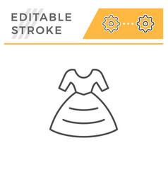 Dress editable stroke line icon vector