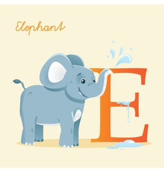 E for Elephent vector image