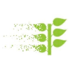 Flora plant shredded pixel icon vector