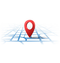 gps 3d location pins vector image