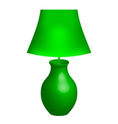 Green lamp vector