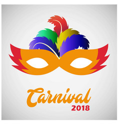 happy brazilian carnival day yellow and red vector image