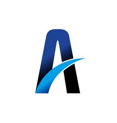 Highway lane letter a swoosh symbol design vector