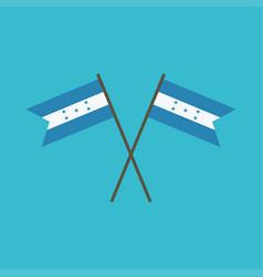 honduras flag icon in flat design vector image