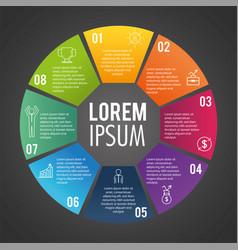 Infographic business report with lorem ipsum vector