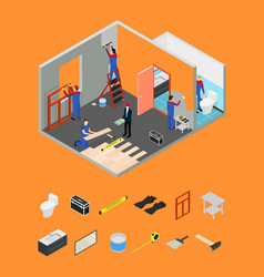 interior renovation room or house and parts vector image