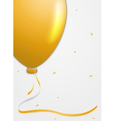 Invitation card with balloon vector