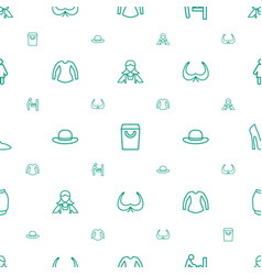 Lady icons pattern seamless white background vector