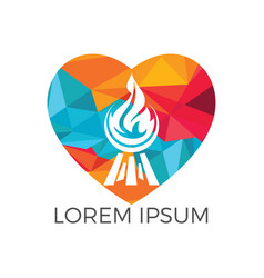 love grill logo design concept vector image