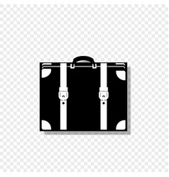 luggage icon isolated on transparent background vector image