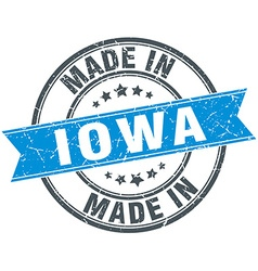 Made in Iowa blue round vintage stamp vector