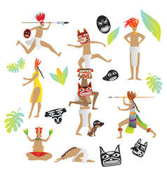 maya civilization collection vector image