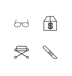 Medical linear icons set simple outline icons vector