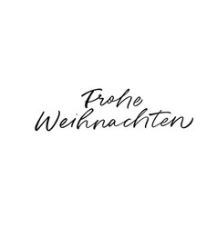 merry christmas hand drawn calligraphy in german vector image