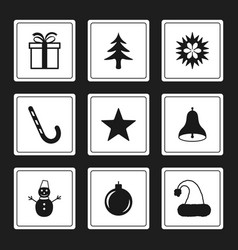 Merry christmas icon new year sign vector