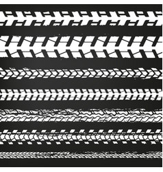 Motorcycle tire tracks-02 vector